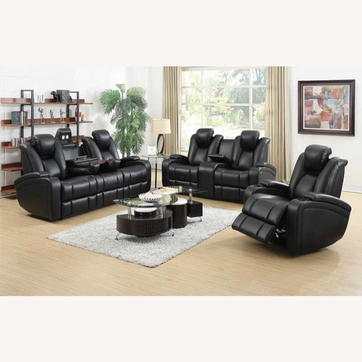 Power2 Sofa In Black Breathable Leather  - image-9