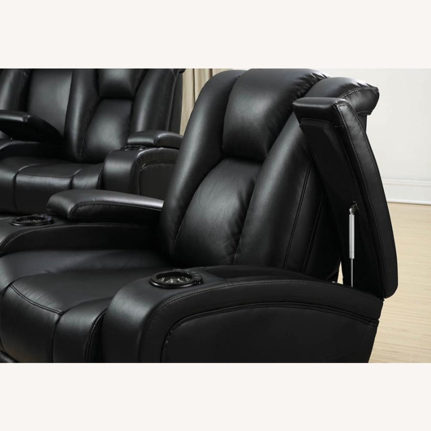 Power2 Sofa In Black Breathable Leather  - image-7