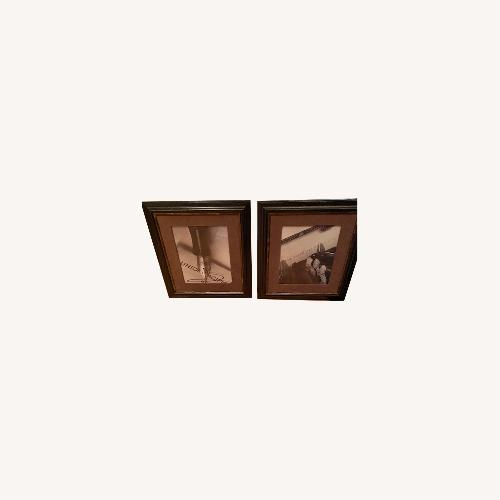 Used Bombay Office Pictures Brown Suede Border for sale on AptDeco