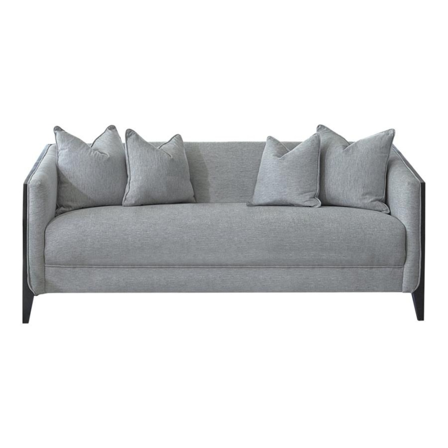 Sofa In Dove Grey Low Pile Chenille Upholstery - image-0