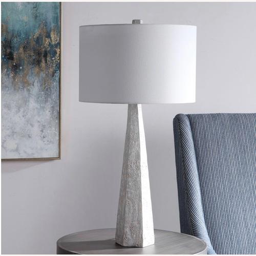 Used Uttermost Apollo Concrete Lamp for sale on AptDeco