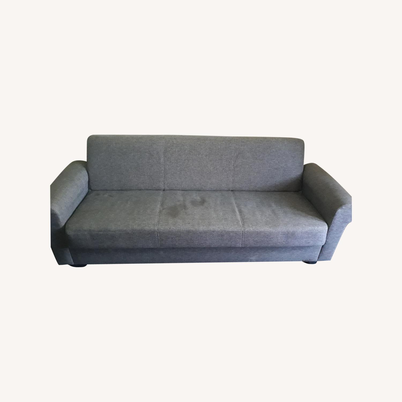 Light Grey Sleeper Sofa with Storage - image-0