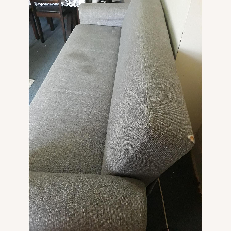 Light Grey Sleeper Sofa with Storage - image-4