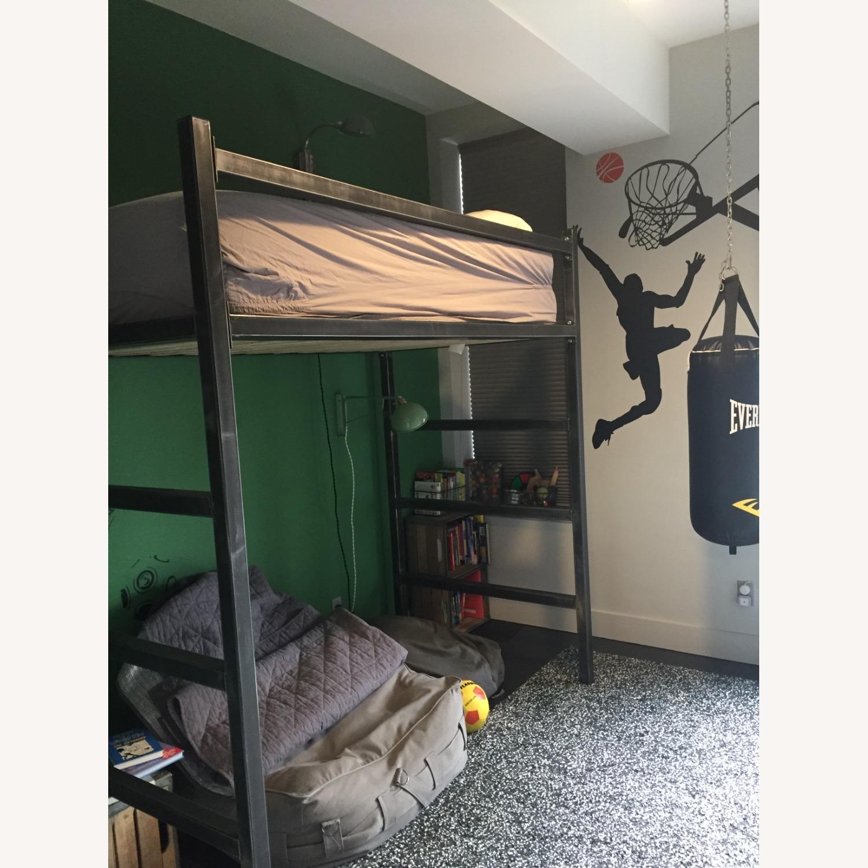 Industrial Modem Steel Loft Bed - image-2