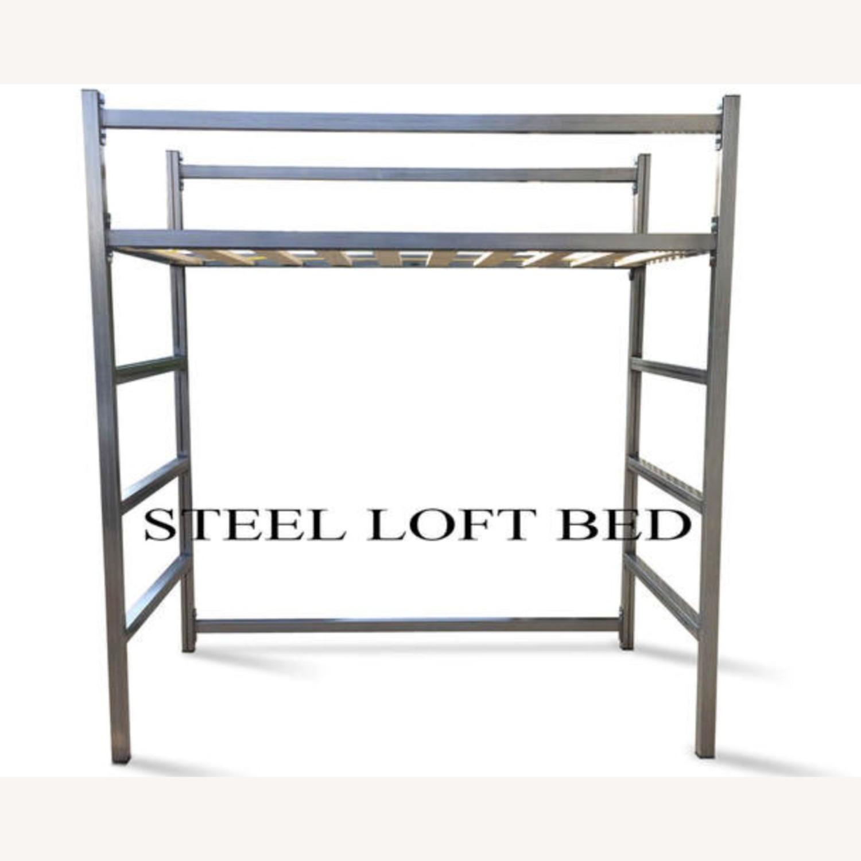Industrial Modem Steel Loft Bed - image-1