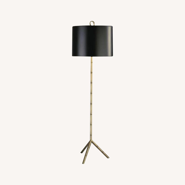 Jonathan Adler Brass Bamboo Floor Lamp - image-0
