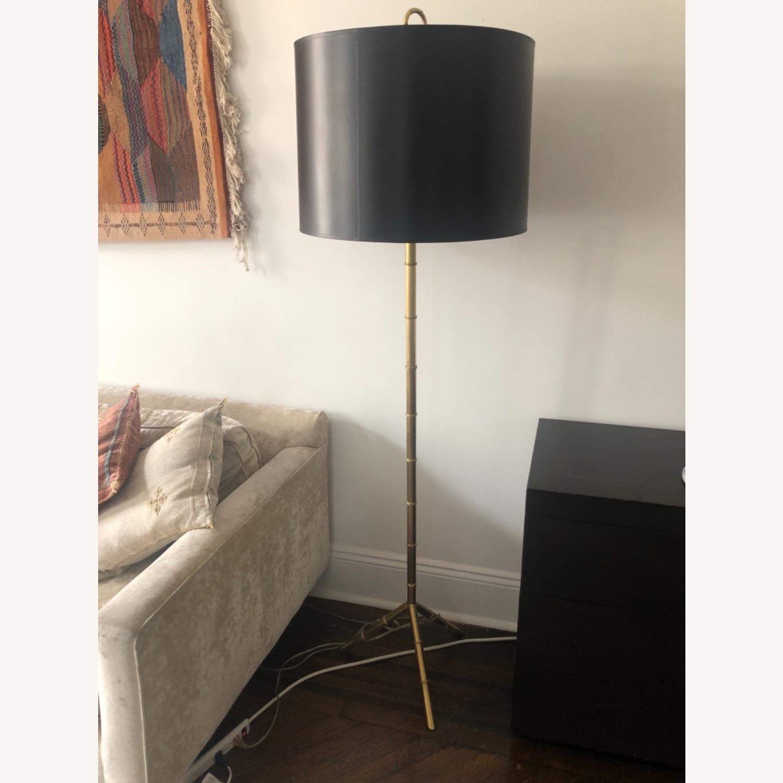 Jonathan Adler Brass Bamboo Floor Lamp - image-1