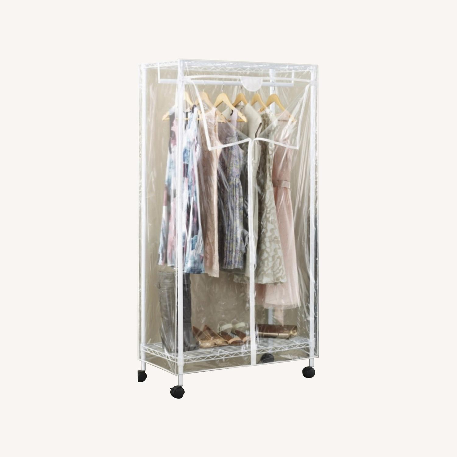 White Modern Clothes Storage Rack - image-0