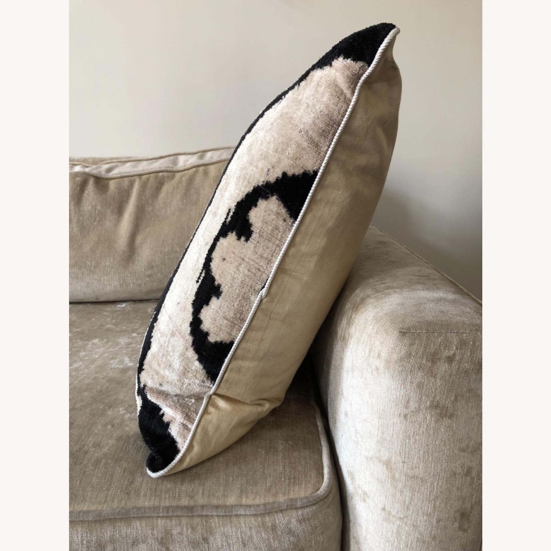 Handwoven Silk Velvet IKAT Set of 5 Pillows - image-29