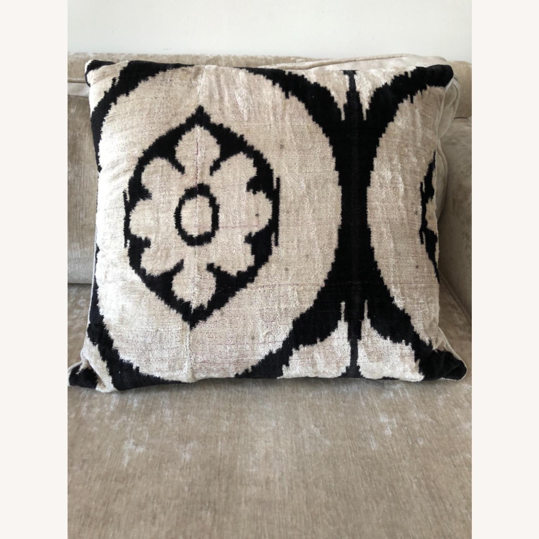 Handwoven Silk Velvet IKAT Set of 5 Pillows - image-1