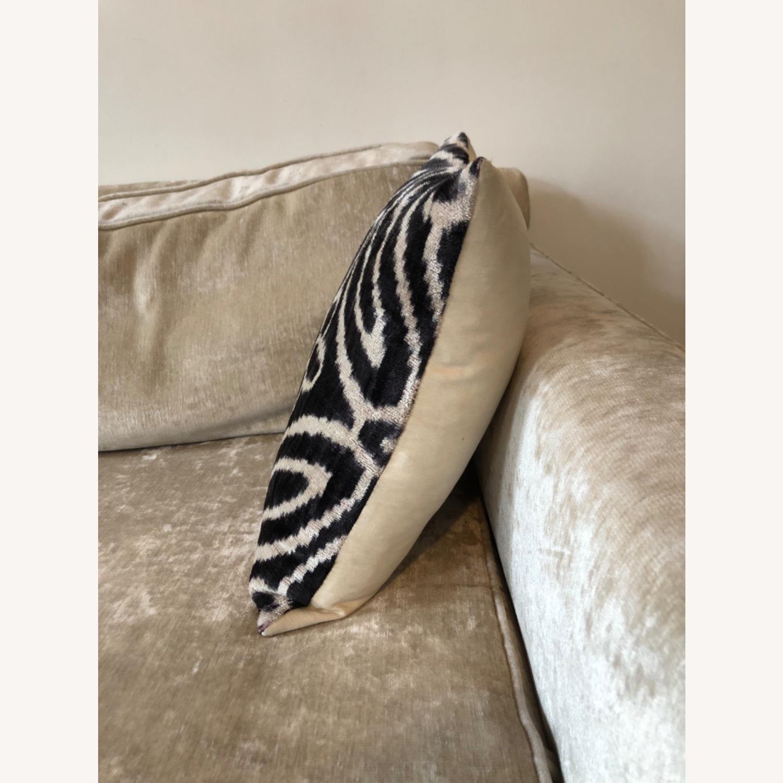 Handwoven Silk Velvet IKAT Set of 5 Pillows - image-28