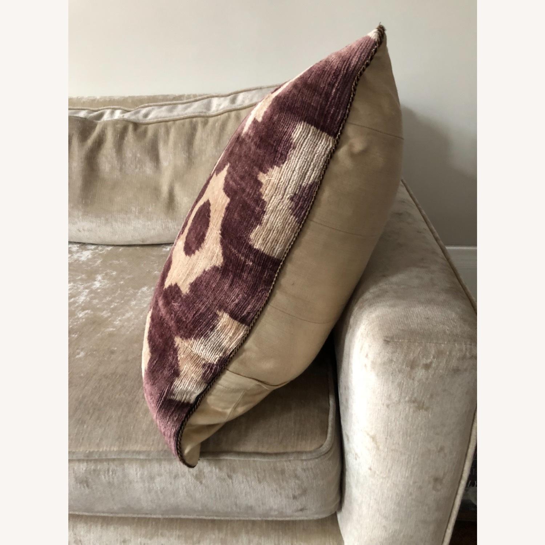 Handwoven Silk Velvet IKAT Set of 5 Pillows - image-27