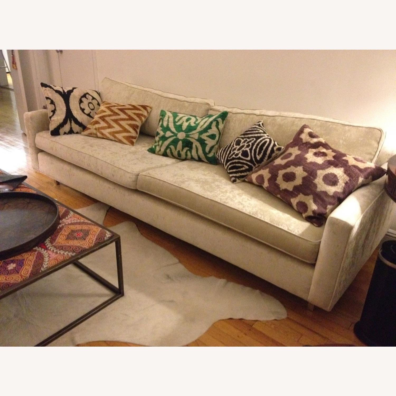 Handwoven Silk Velvet IKAT Set of 5 Pillows - image-0