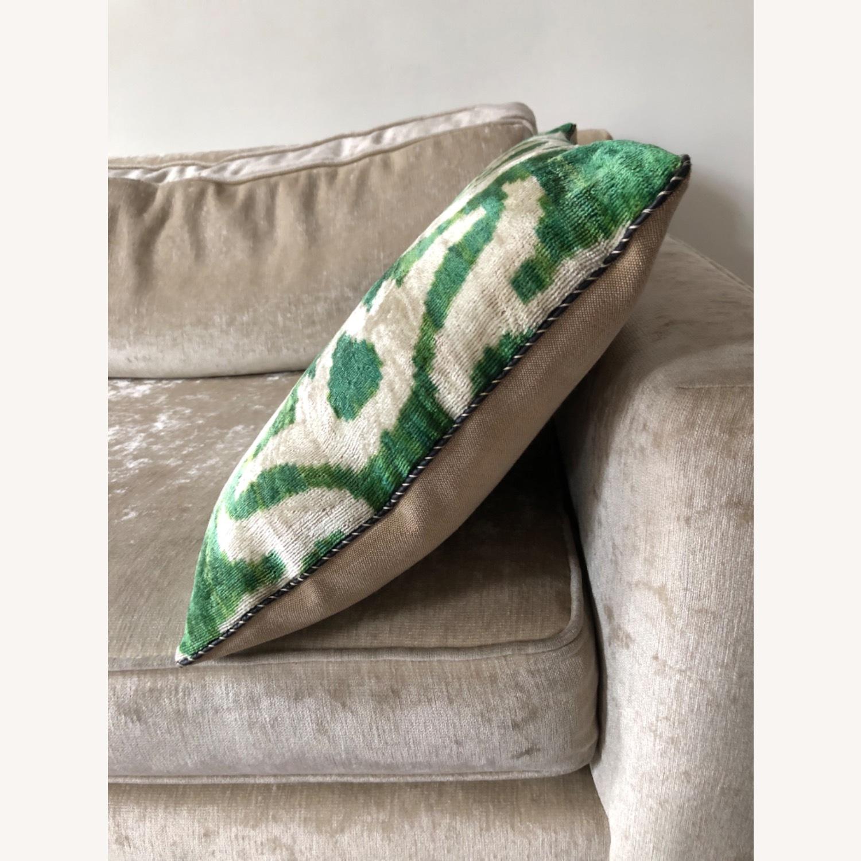 Handwoven Silk Velvet IKAT Set of 5 Pillows - image-25