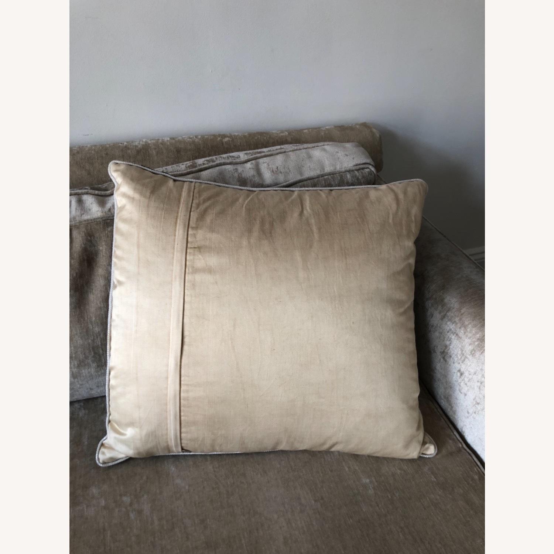 Handwoven Silk Velvet IKAT Set of 5 Pillows - image-2
