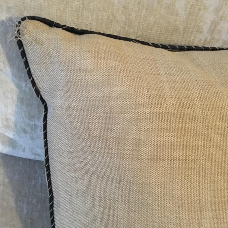 Handwoven Silk Velvet IKAT Set of 5 Pillows - image-18