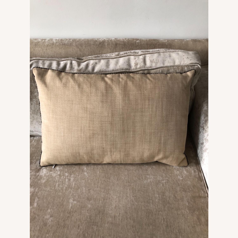 Handwoven Silk Velvet IKAT Set of 5 Pillows - image-9