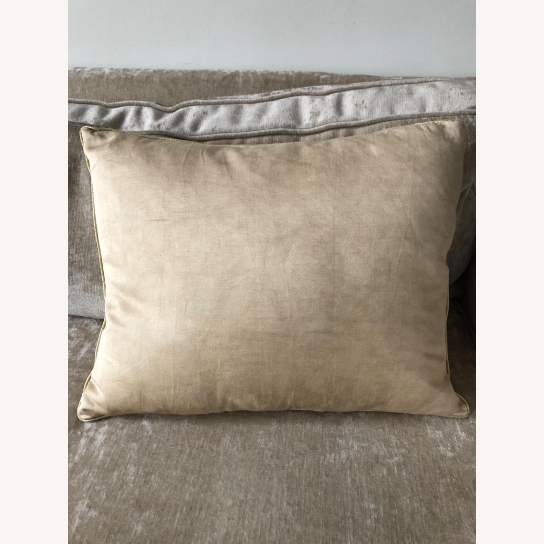 Handwoven Silk Velvet IKAT Set of 5 Pillows - image-7
