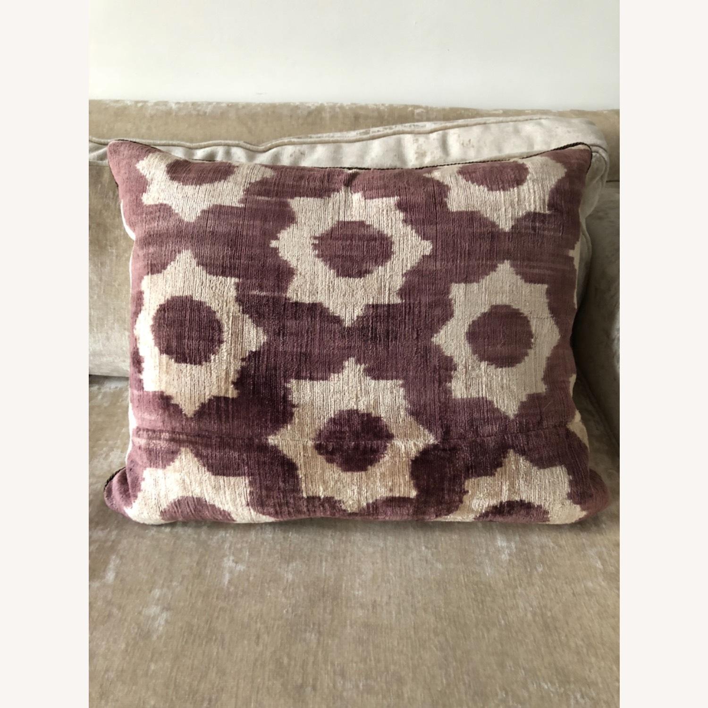 Handwoven Silk Velvet IKAT Set of 5 Pillows - image-5