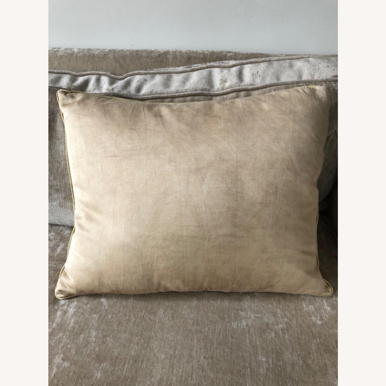 Handwoven Silk Velvet IKAT Set of 5 Pillows - image-23