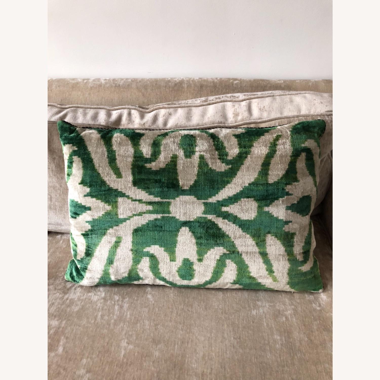 Handwoven Silk Velvet IKAT Set of 5 Pillows - image-10