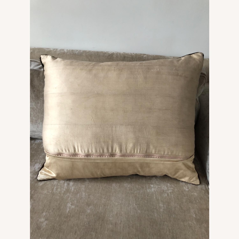 Handwoven Silk Velvet IKAT Set of 5 Pillows - image-6