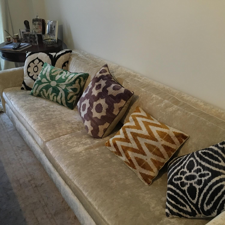 Handwoven Silk Velvet IKAT Set of 5 Pillows - image-12