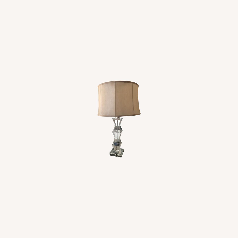 Ethan Allen Geometric Crystal Lamp - image-0