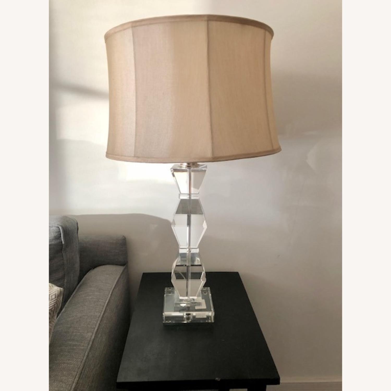 Ethan Allen Geometric Crystal Lamp - image-1