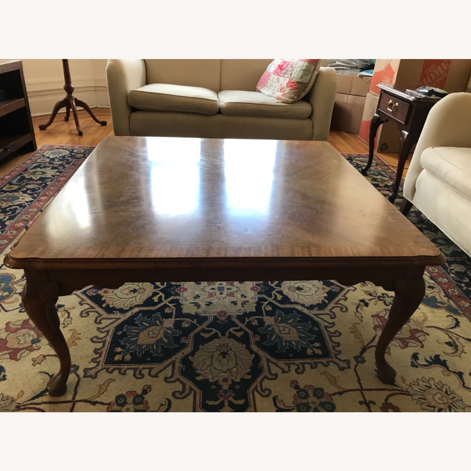 Ethan Allen Mahogany Coffee Table - image-1