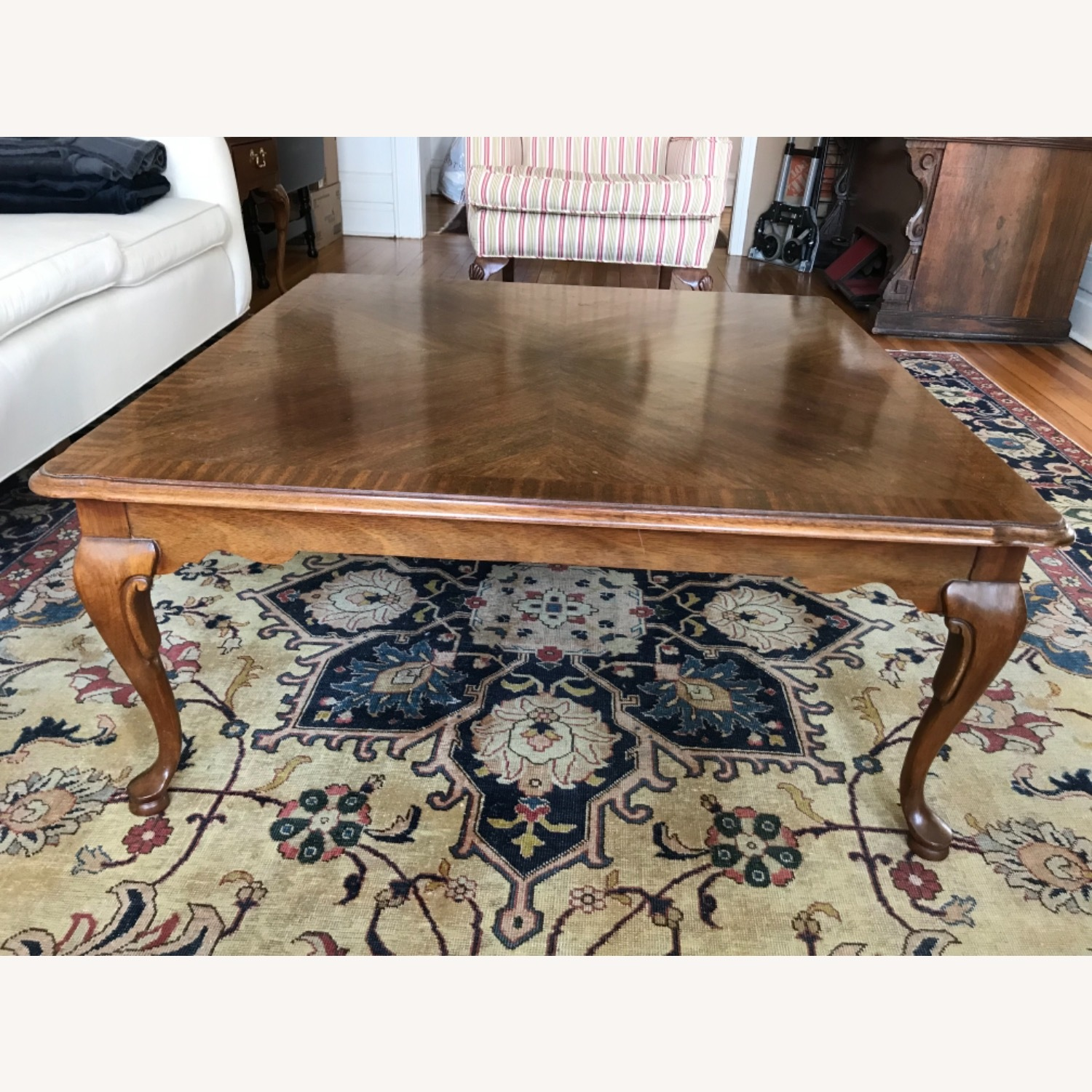 Ethan Allen Mahogany Coffee Table - image-2