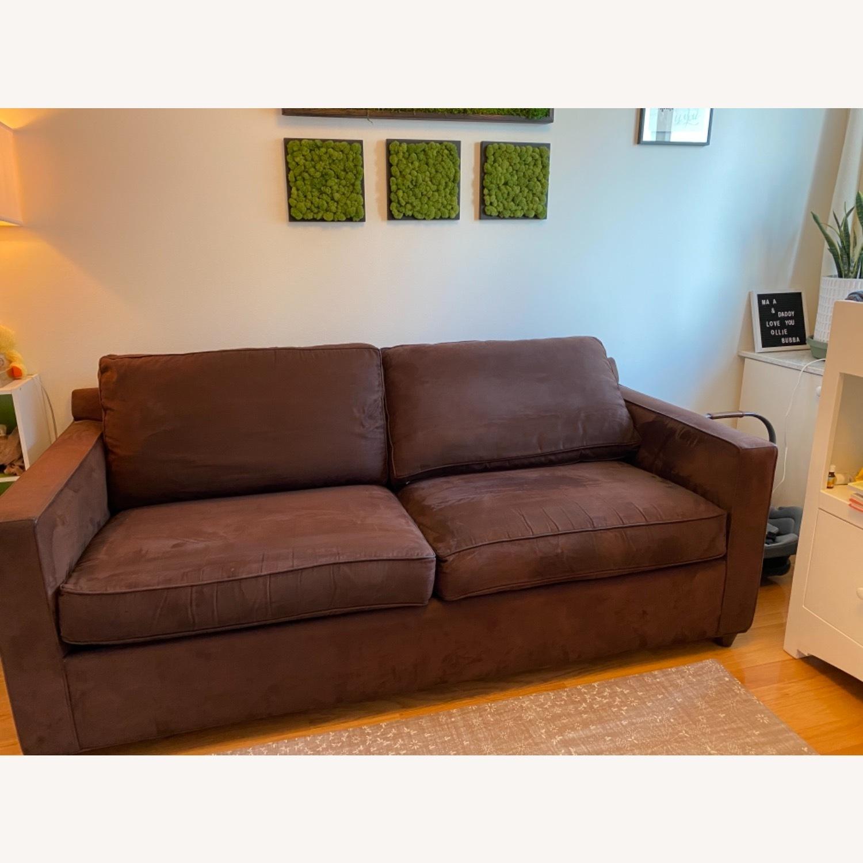Crate & Barrel Queen Sleeper Sofa in Dark Brown - image-4