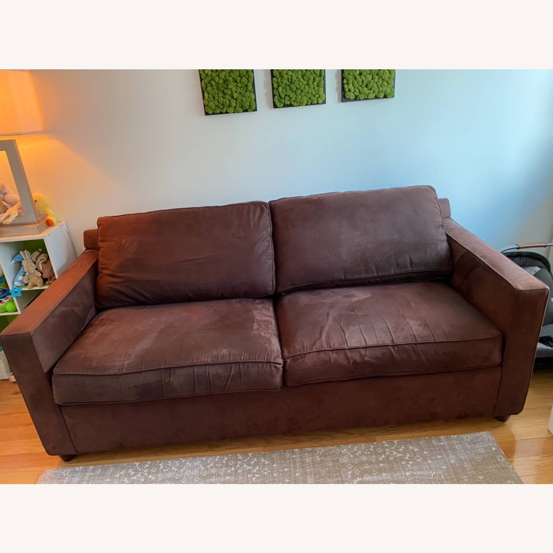 Crate & Barrel Queen Sleeper Sofa in Dark Brown - image-3