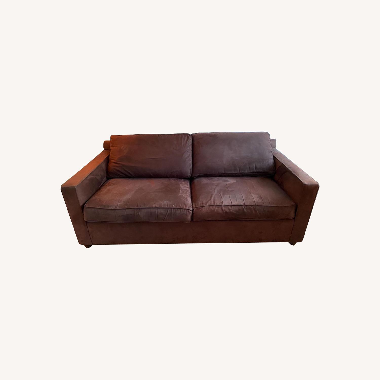 Crate & Barrel Queen Sleeper Sofa in Dark Brown - image-0