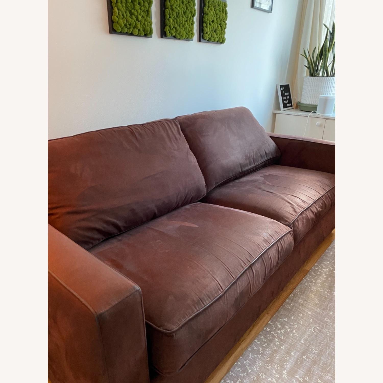 Crate & Barrel Queen Sleeper Sofa in Dark Brown - image-1