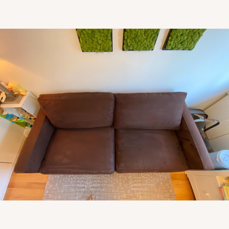Crate & Barrel Queen Sleeper Sofa in Dark Brown - image-5