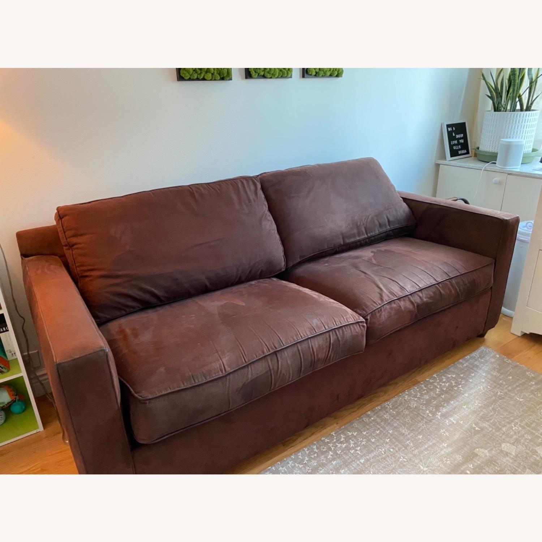 Crate & Barrel Queen Sleeper Sofa in Dark Brown - image-6