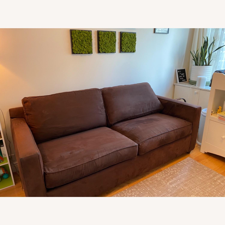 Crate & Barrel Queen Sleeper Sofa in Dark Brown - image-2