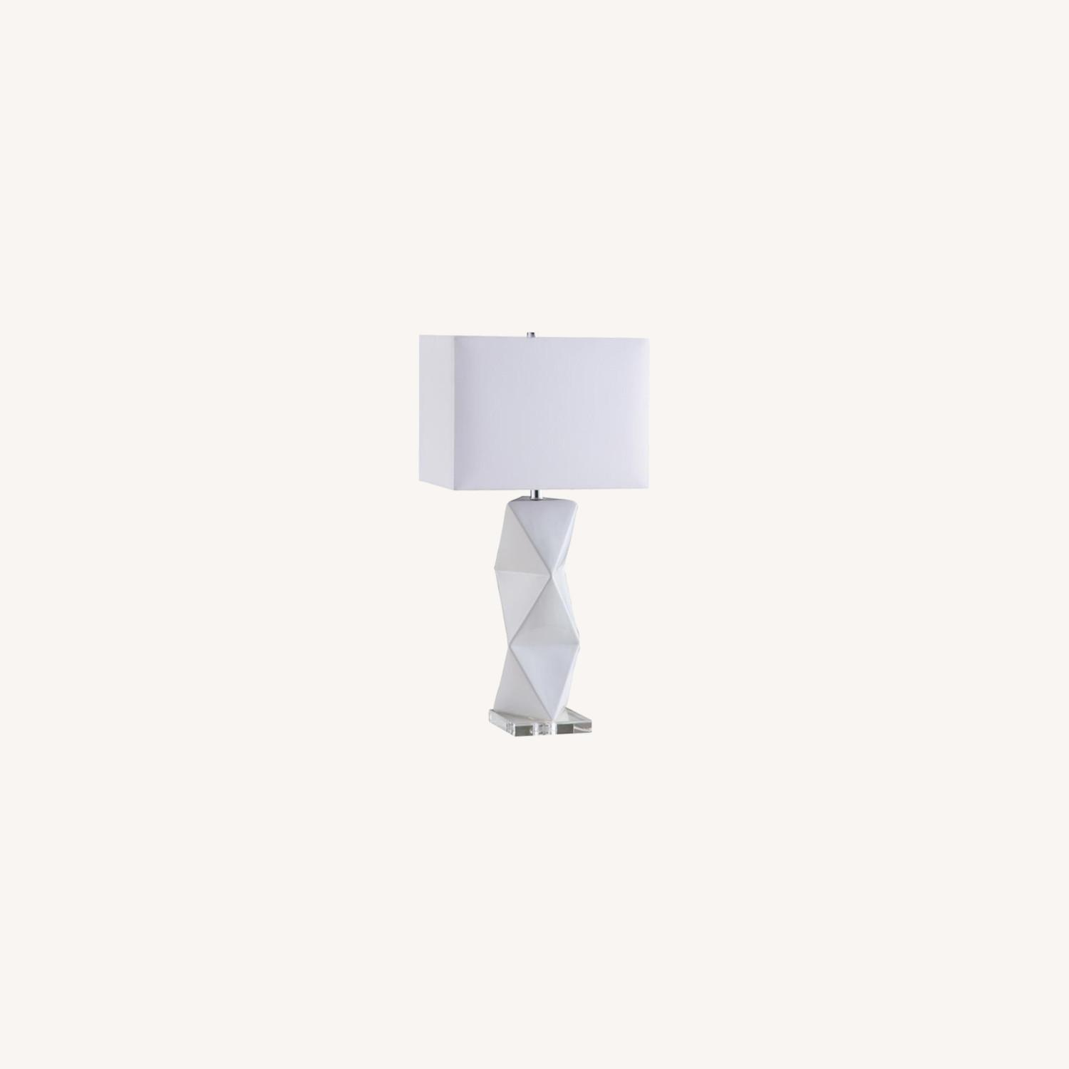 Table Lamp In White Ceramic Base Finish - image-3
