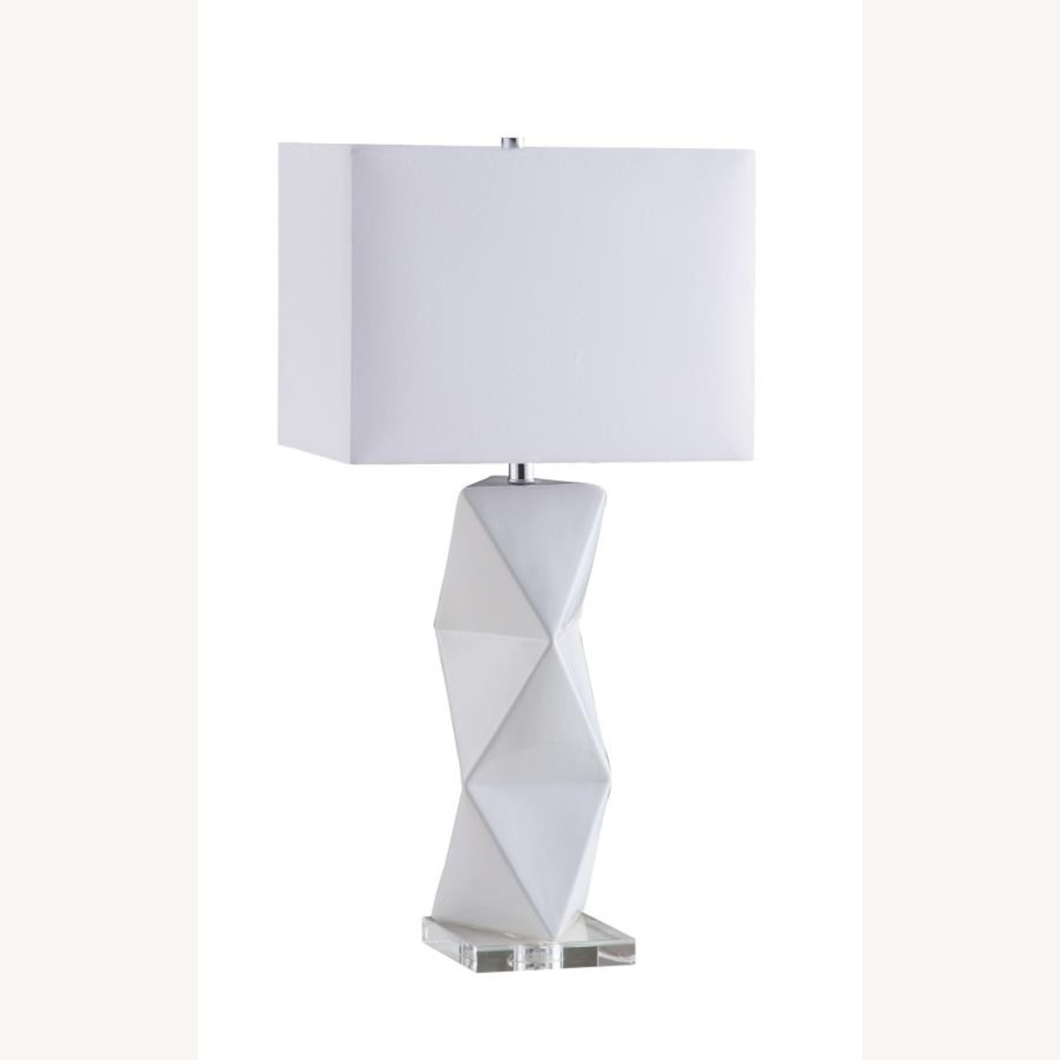 Table Lamp In White Ceramic Base Finish - image-0