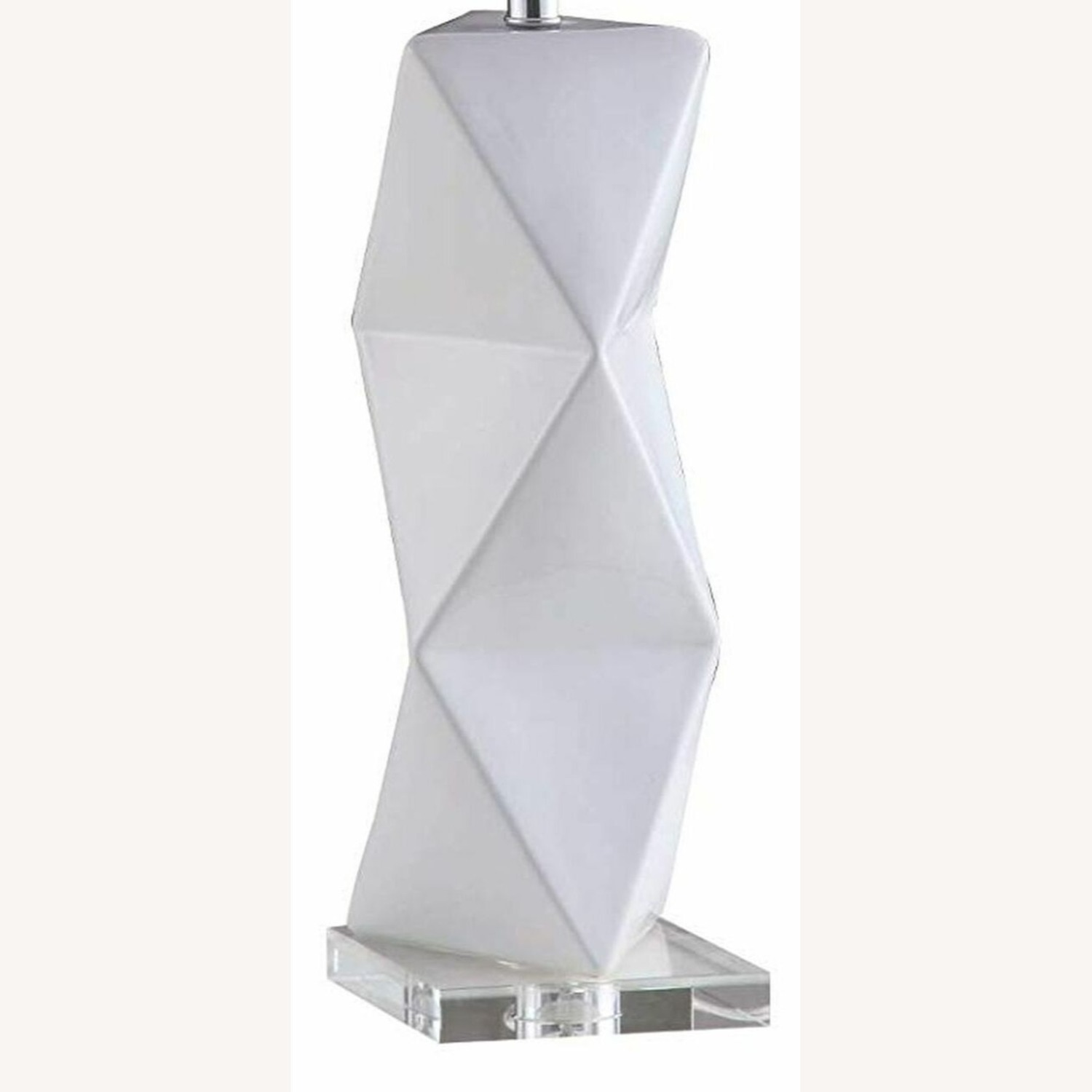 Table Lamp In White Ceramic Base Finish - image-1