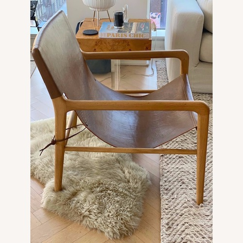 Used Barnaby Lane Smith Leather Chair for sale on AptDeco