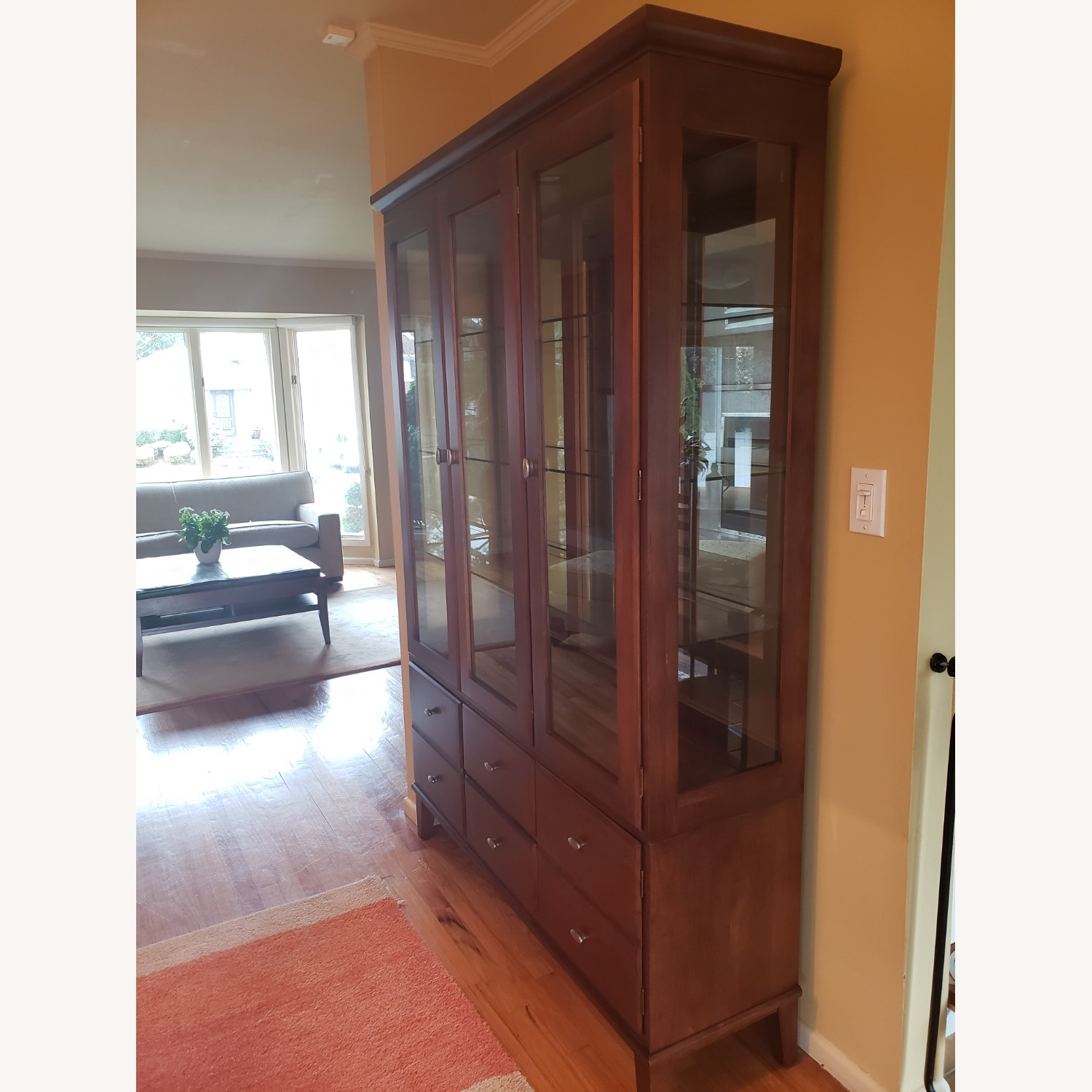 Ethan Allen Horizon China Cabinet with Lights - image-1
