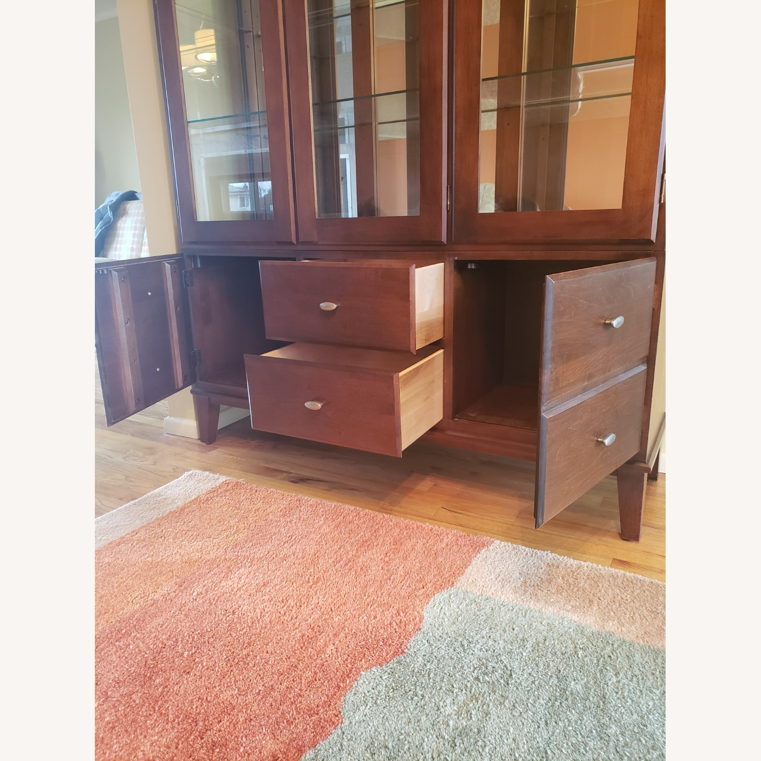 Ethan Allen Horizon China Cabinet with Lights - image-3