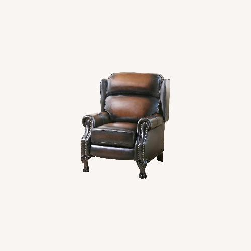 Used Abbys on Leatger Pushback Recliner for sale on AptDeco