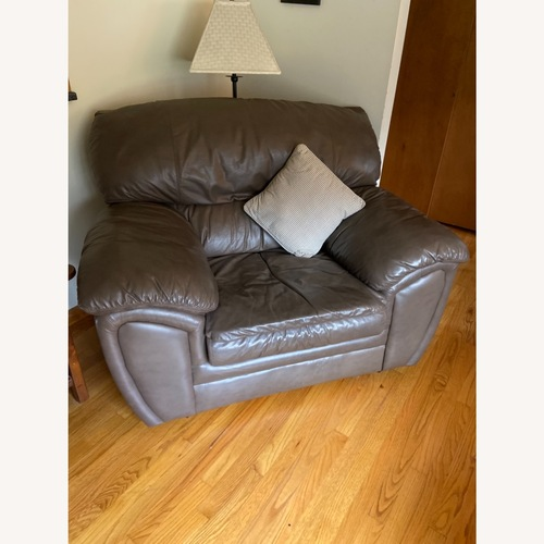 Used Oversized Leather Chair for sale on AptDeco