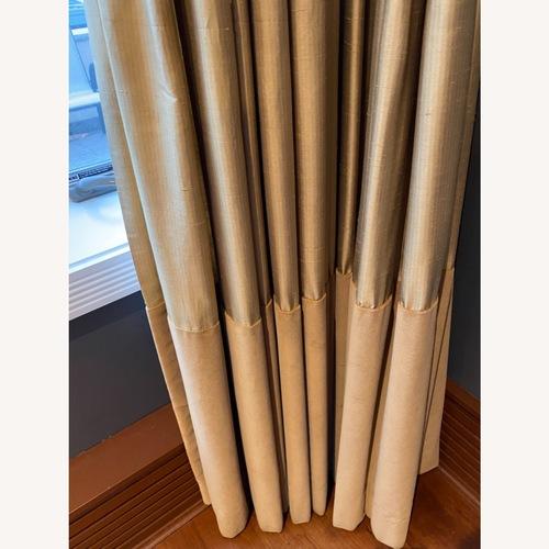 Used Custom Gold Silk and Velvet Blackout Drapes for sale on AptDeco