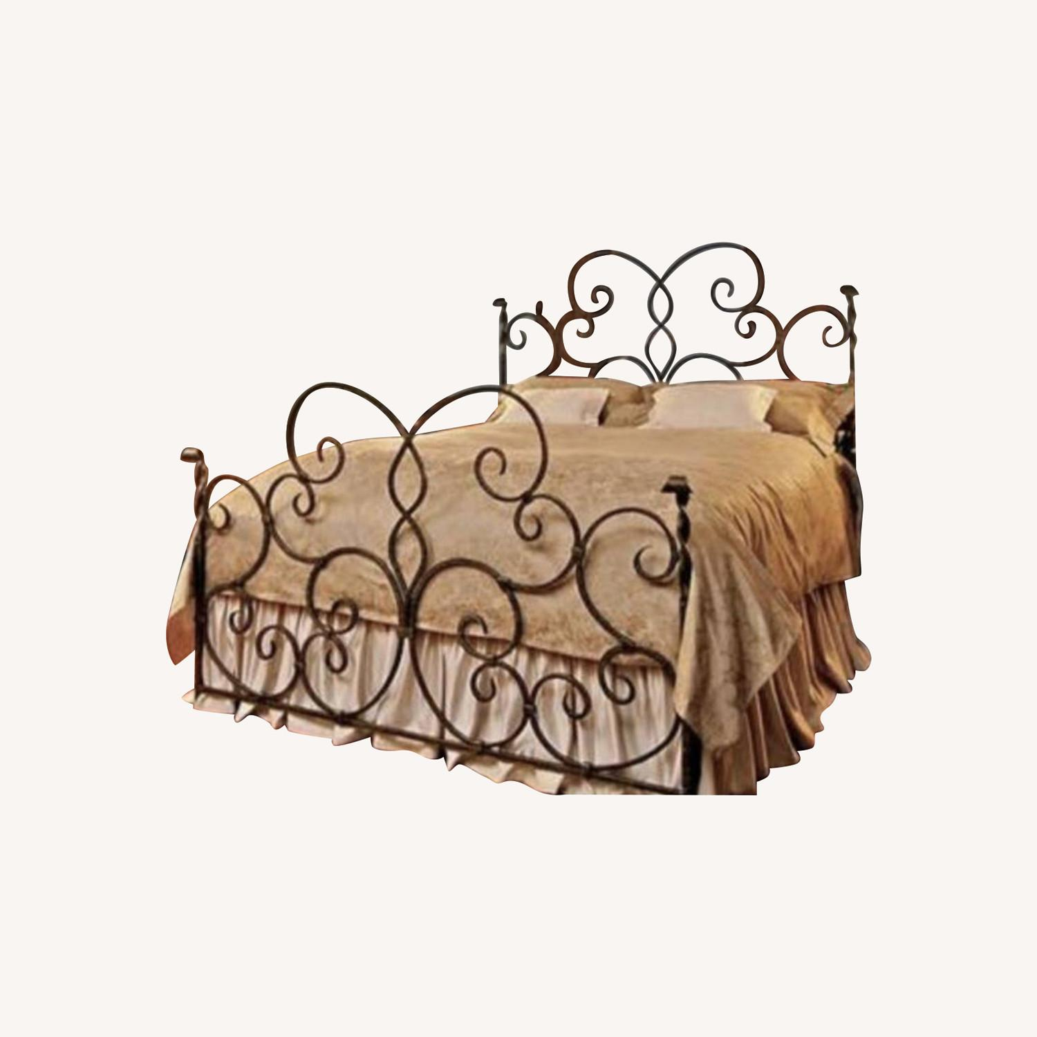 Hand Forged Wrought Iron Queen Bed - image-0