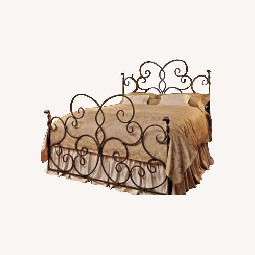 Used Hand Forged Wrought Iron Queen Bed for sale on AptDeco