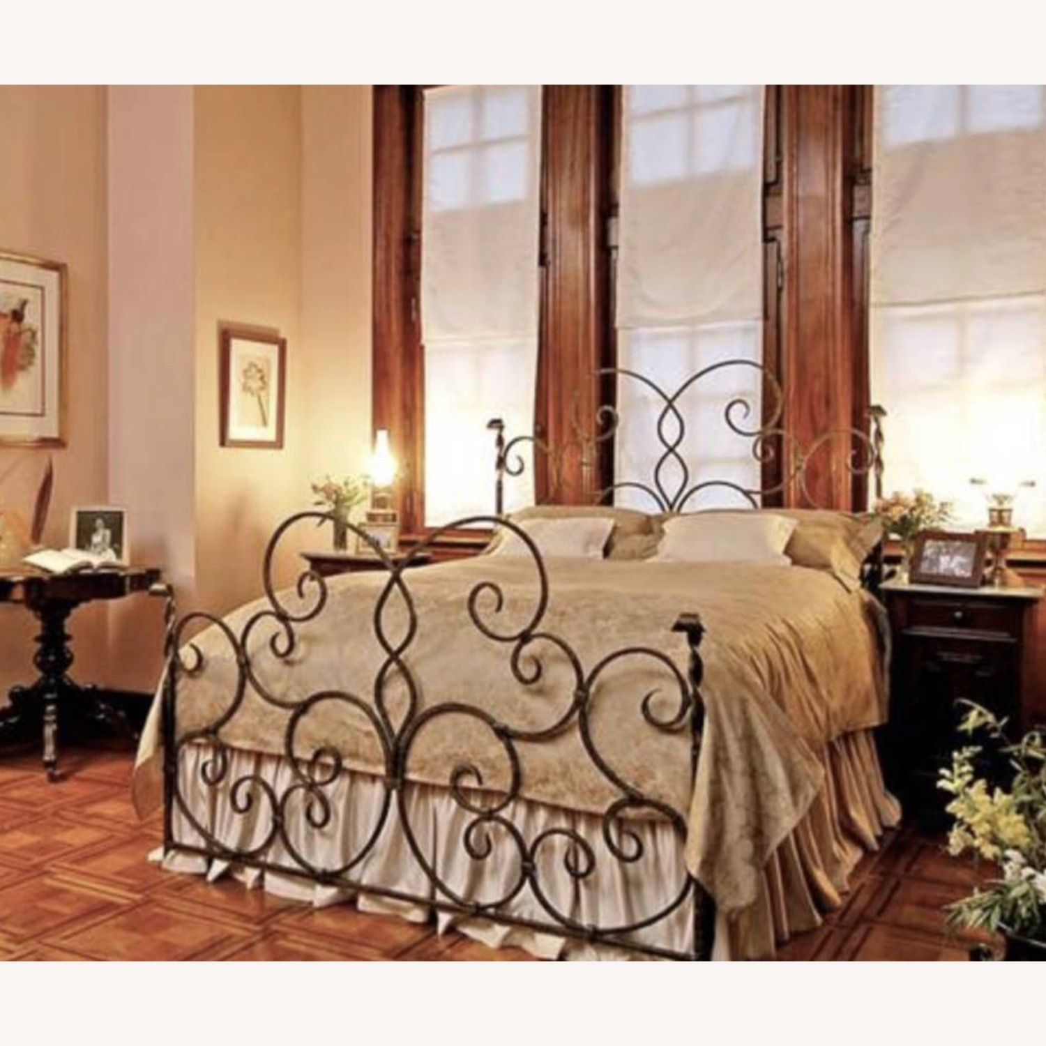 Hand Forged Wrought Iron Queen Bed - image-3